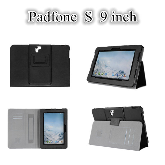 NEW For Padfone S Magnet Leather Case For Asus Padfone S 9 inch Tablet Cover Case With Card Slot and Hand Holder