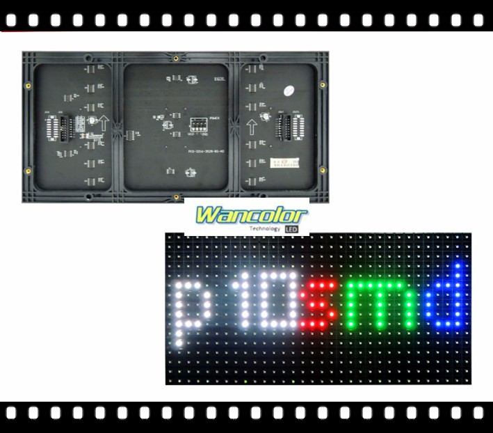 free shipping DIY <font><b>LED</b></font> display 10 pcs <font><b>P10</b></font> indoor SMD Full Color <font><b>Led</b></font> <font><b>Module</b></font> (320*160mm)+1 pc <font><b>RGB</b></font> <font><b>led</b></font> controller+ power supply image