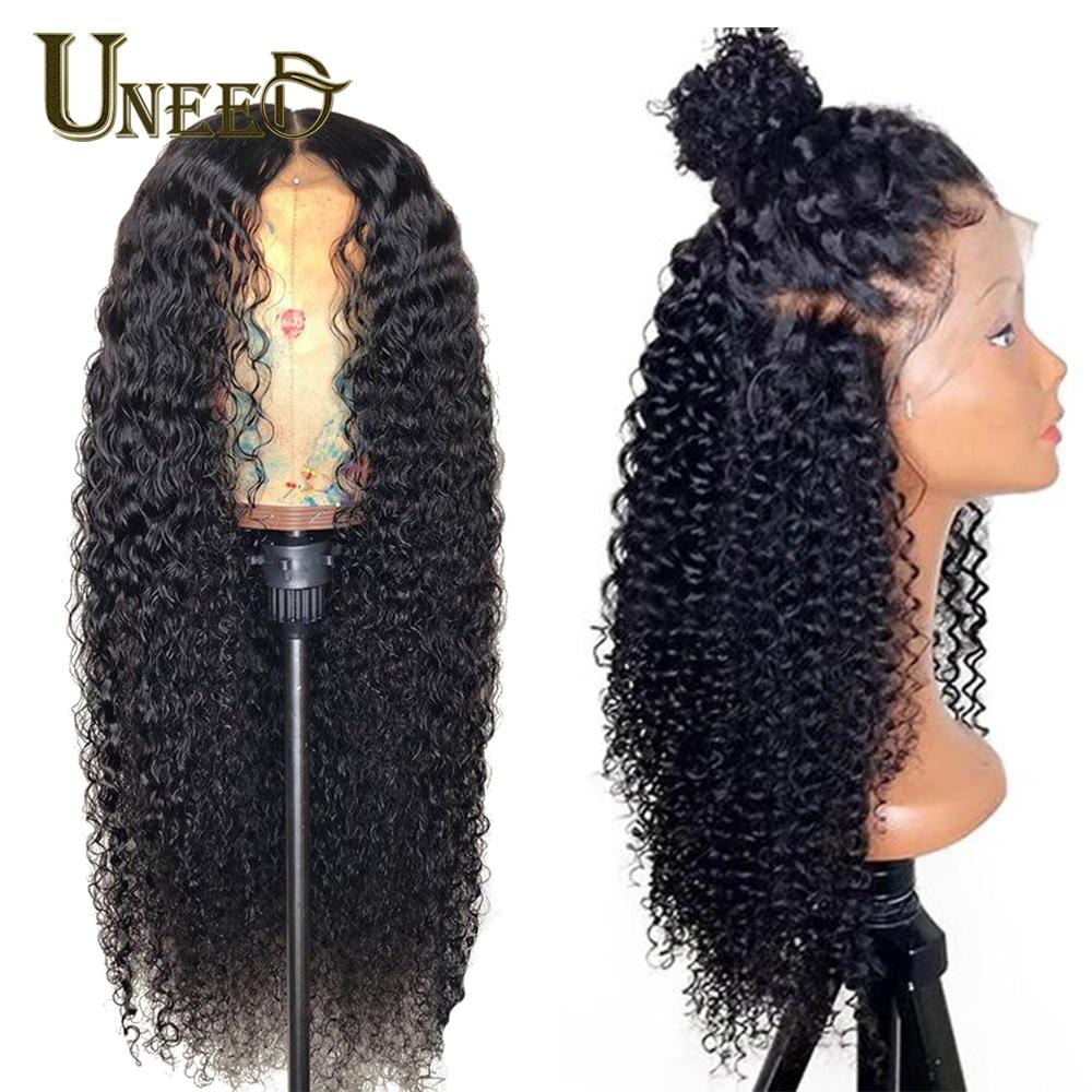 4x4 Lace Closure Human Hair Wig Mongolian Afro Kinky Curly ...