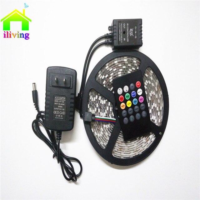 5M I Living 150 Leds Flexible Tape Music Controller 5050 RGB LED Strip 30  Leds
