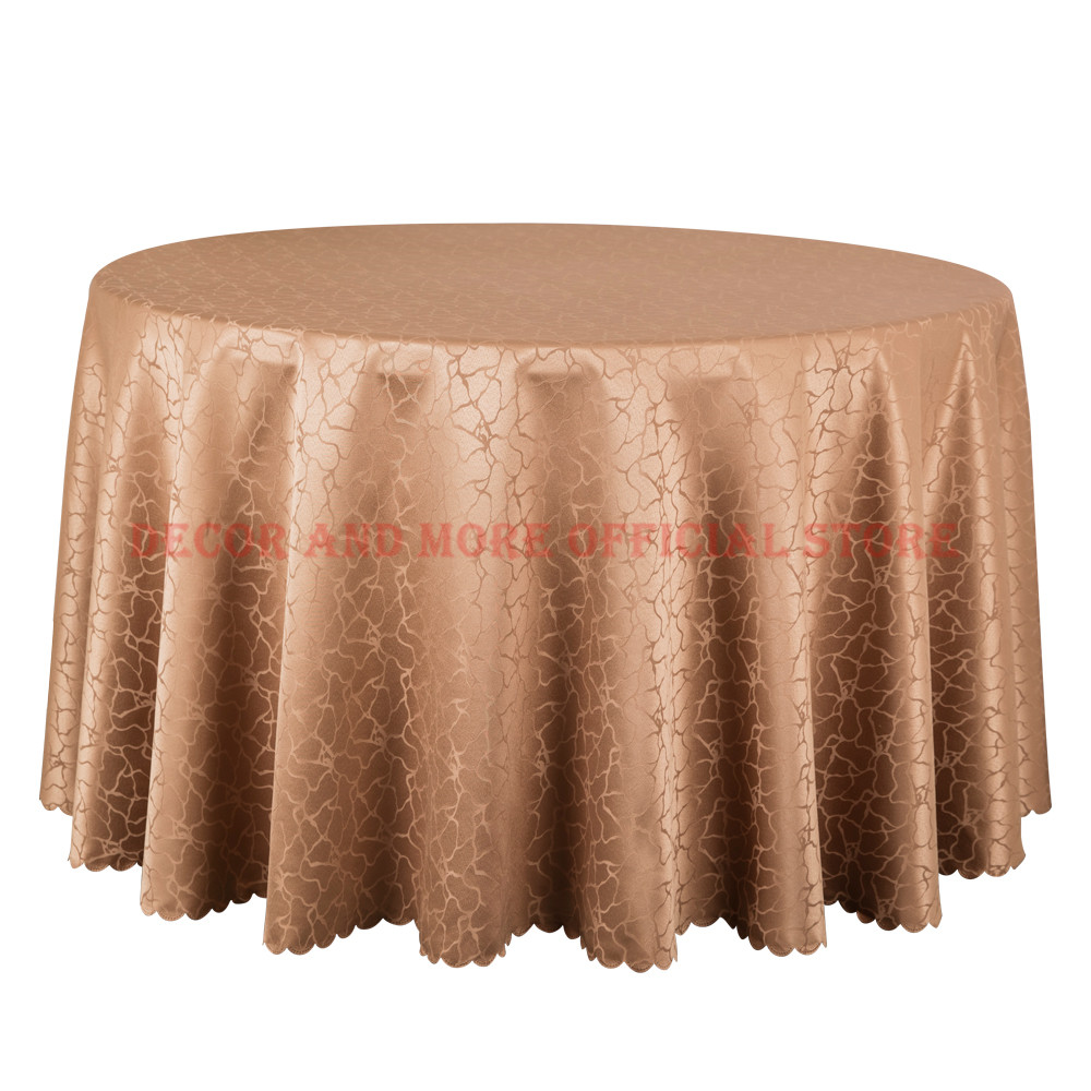 10PCS Polyester Solid Jacquard Damask Table Cloth Round Dining Table Linen Square Decor White Red Tablecloths For Wedding Hotel
