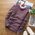HOT 2016 New Autumn Fashion Brand Casual Sweater O-Neck Striped Slim Fit Knitting Mens Sweaters And Pullovers Men Pullover Men