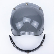 Free shipping 3-snap open face helmet visor vintage motorcycle helmet bubble shield visor lens glasses retro VISOR TINTED SHIELD