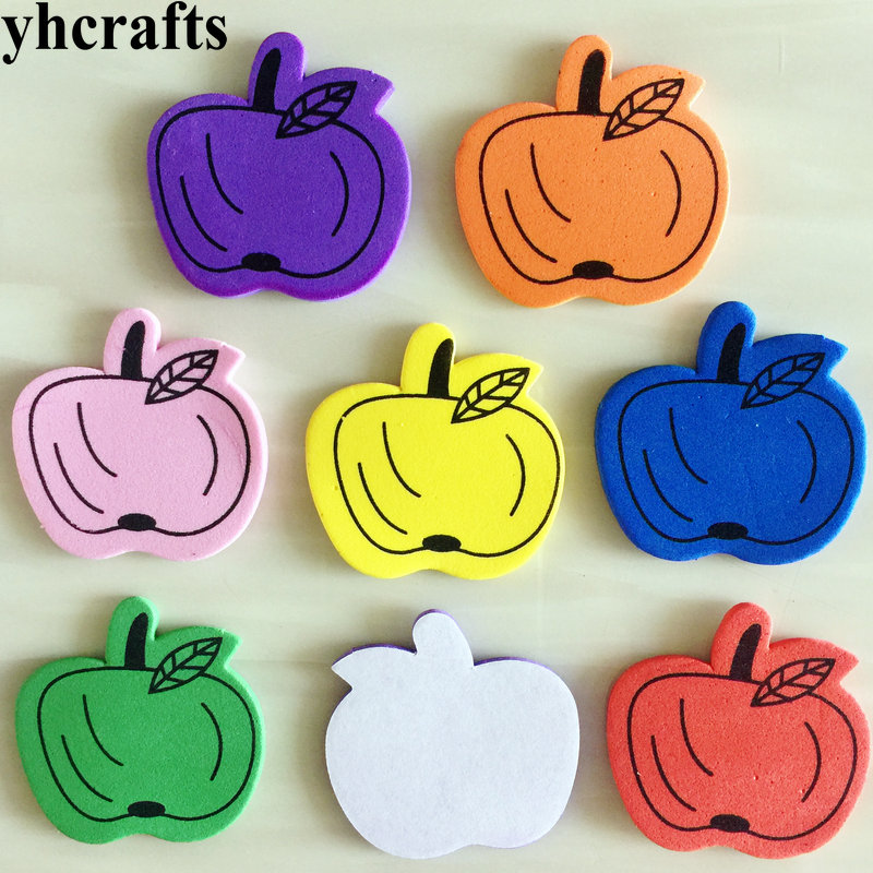 450PCS(10bags)/LOT.Colorful apple foam stickers.Early