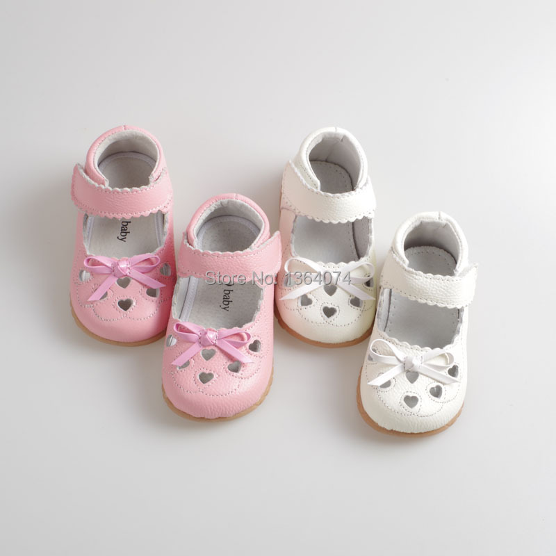 Girls shoes with bowknot design girls kids genuine leather shoes ...