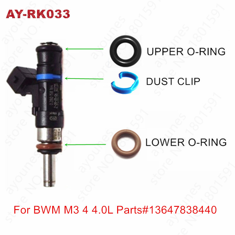 200kits For BWM M3 4 0L Fuel injector repair kits Viton Oring For Parts 13647838440 0280158276