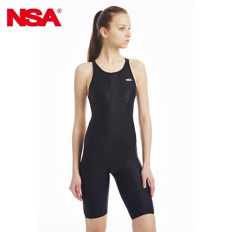 Soutěž NSA žraločí tkanina délka kolenního kusu jeden kus dámská tréninková a závodní plavky jeden kus vodotěsný plavky