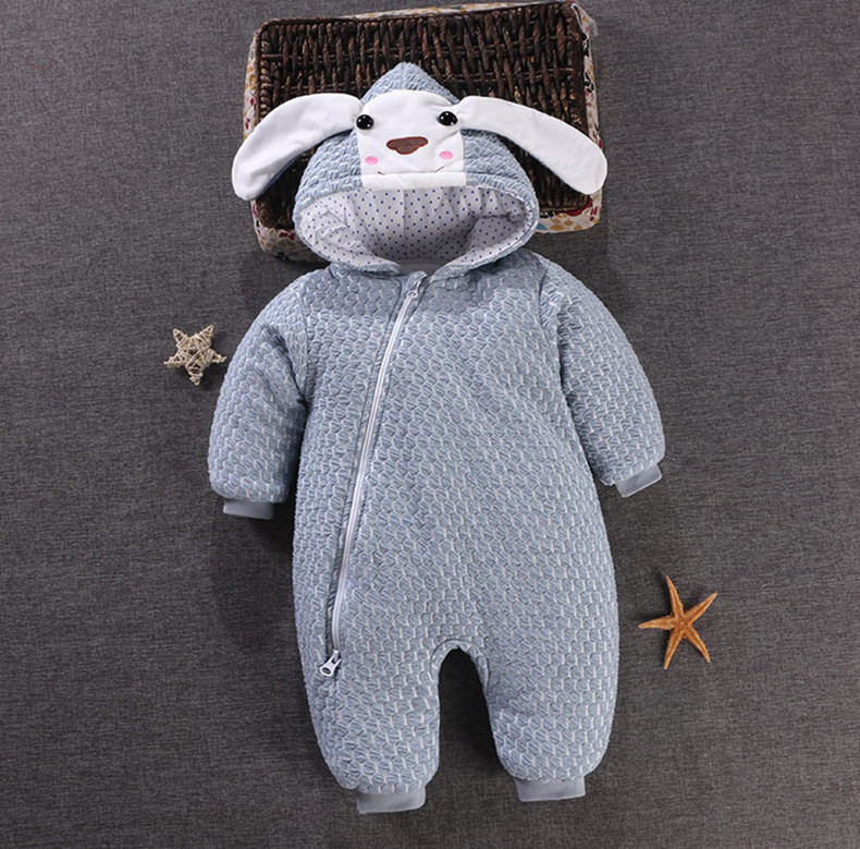 Baby Winter Romper Boys Clothes Hooded Cotton Clothing For Infant Girl Thick Warm Toddler Costume 3M-15M XW warm infant romper baby boys girls jumpsuit 7 18 months baby clothing cotton baby clothes cute animal romper baby costumes