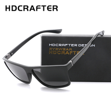 HDCRAFTER 2019 Sunglasses men Polarized Square sunglasses Brand Design UV400 protection Shades Men glasses for driving