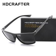 HDCRAFTER 2019 Sunglasses men Polarized Square sunglasses Brand Design UV400 protection Shades Men glasses for driving цена и фото