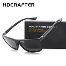 e0e8c0472e HDCRAFTER 2019 Sunglasses men Polarized Square sunglasses Brand Design  UV400 protection Shades Men glasses for driving