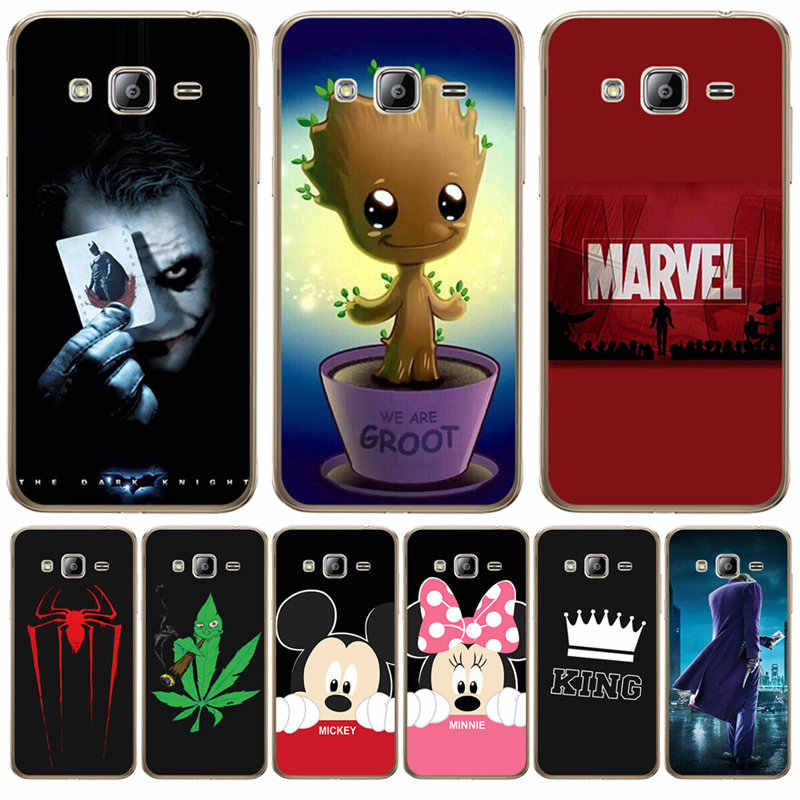 Luxury Marvel For Samsung Galaxy J3 J4 J5 J6 J7 J8 Plus 2016 2017 2018 J2 Prime Cover Case Silicone Coque joker Women Mickey