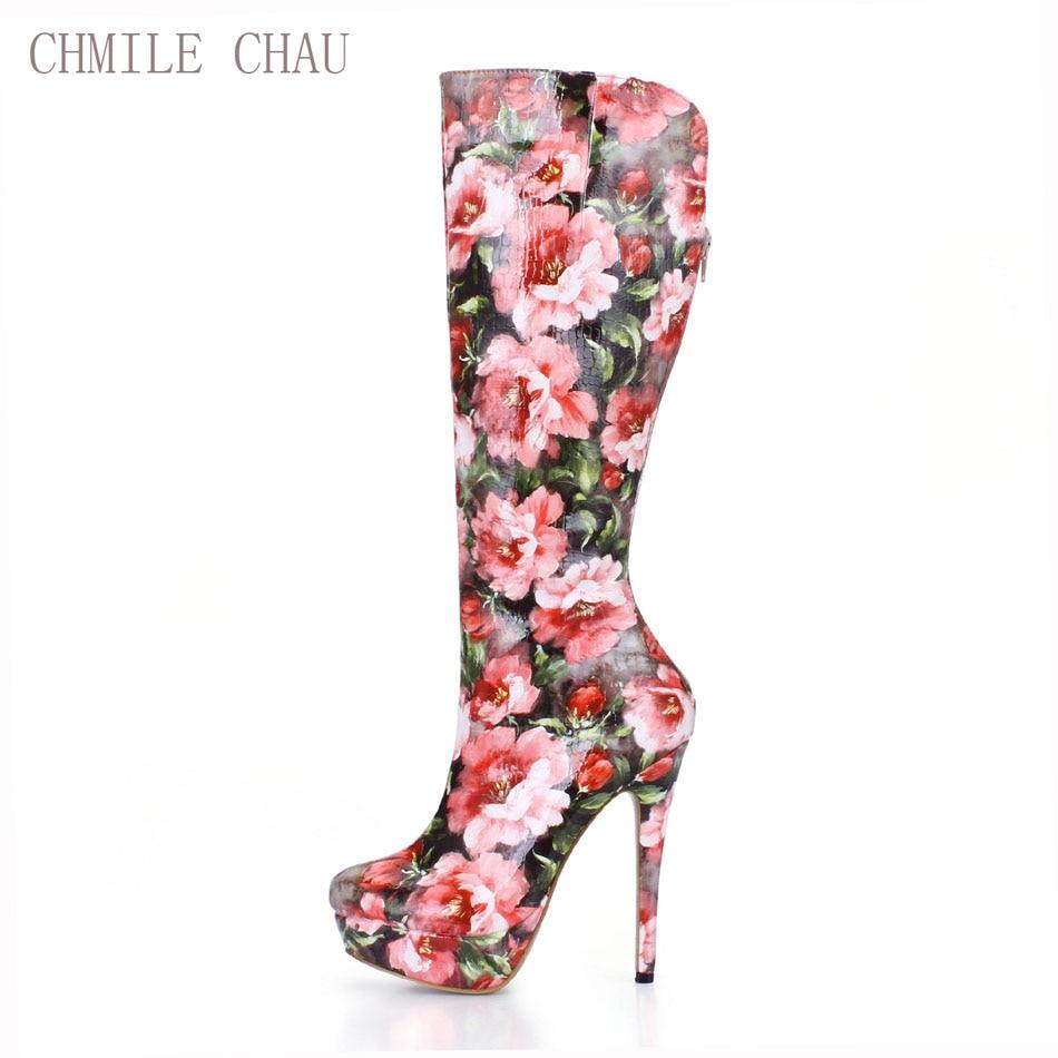 Hauts Femmes Fête De Rond Sexy Mode Rencontres Chau Genou Talons haute 3463bt Chmile Mujer q3 Stiletto Bottes Chaussure Bout Dames Zapatos Red nO0wkP8NXZ