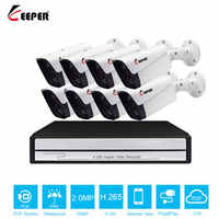 Keeper H.265 8CH 1080 p HDMI POE NVR CCTV Systeem 8 stks 2.0MP Outdoor IP Camera Waterdicht P2P Onvif Beveiliging surveillance Systeem