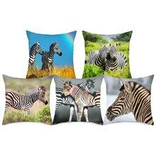 Fuwatacchi Zebra Printed Throw Pillows Pillow Cover Animal Cushion for Sofa Car Bedroom Decorative Case