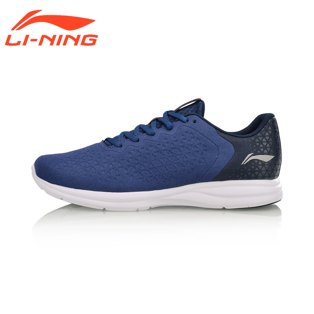 Li-Ning Men's Light-Weight Running Shoes Athletic Anti-Slippery Sports Sneakers Breathable LiNing Jogging Walking Shoes ARBM053 li ning professional badminton shoe for women cushion breathable anti slippery lining shock absorption athletic sneakers ayal024