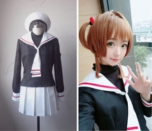 New Anime Cardcaptor Sakura Kinomoto Cosplay Costume School Uniform Outfits Halloween Adult Costumes for Women S-XL