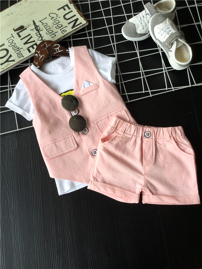 2016 letní baby oblek Značky Oblečení Set noví chlapci obleky - Dětské oblečení