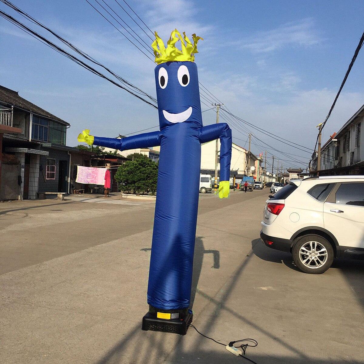 20ft/6 m Vent Danseur Tube Dessin Animé Homme De Danse Gonflable Marionnette D'air De Ciel D'air Homme Dansant Pour publicité - 5