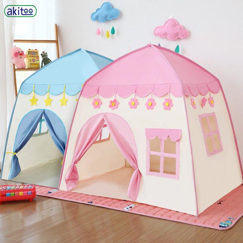Akitoo เด็กเต็นท์ baby play house ของเล่นในร่มเจ้าหญิงวันเกิดของขวัญตุ๊กตาสาว house ปราสาทขนาดเล็ก #140-ใน เต็นท์ของเล่น จาก ของเล่นและงานอดิเรก บน   1