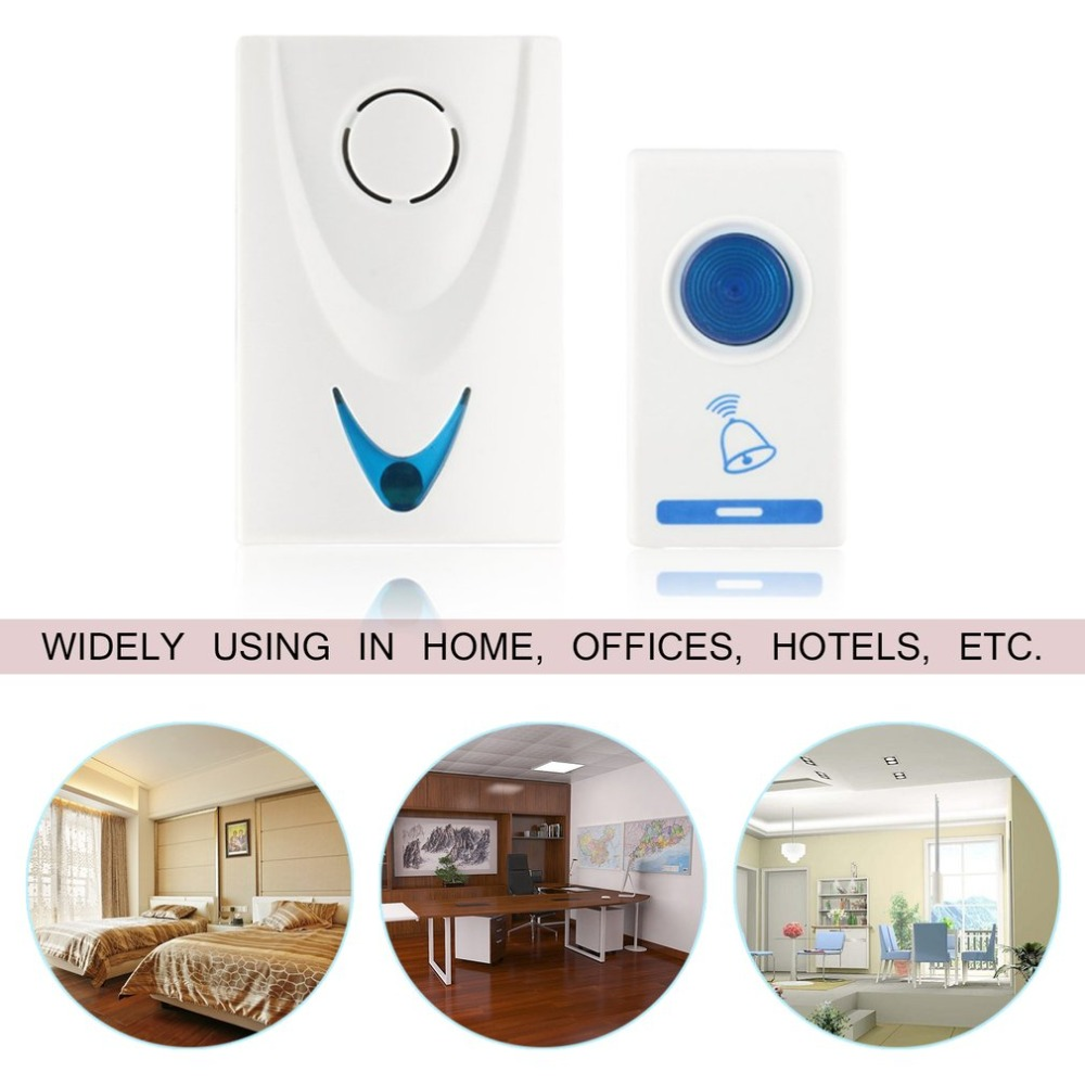 купить Wireless Door Bell 504D LED Chime Doorbell 100M Remote Control 32 Tune Songs Home Security Smart Doorbell по цене 296.23 рублей