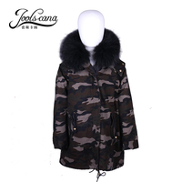 Joolscana kids fur coat boys girls jackets children clothes with natural fur lining real raccoon fur collar very warm in 40c