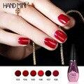 Hand Mini 1Pcs 12ml Wine Red Series Set For Nail Gel Polish Soak Off Gel Polish With UV Lamp Nail Gel Varnish