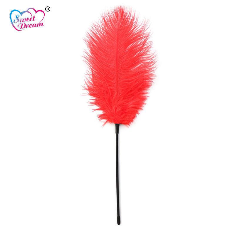Sweet Dream Flirt Tease Tickle Feather Stick BDSM Exotic Toys Adult Game Role Play Sex Toys for Woman or Men Sex Products DW-384