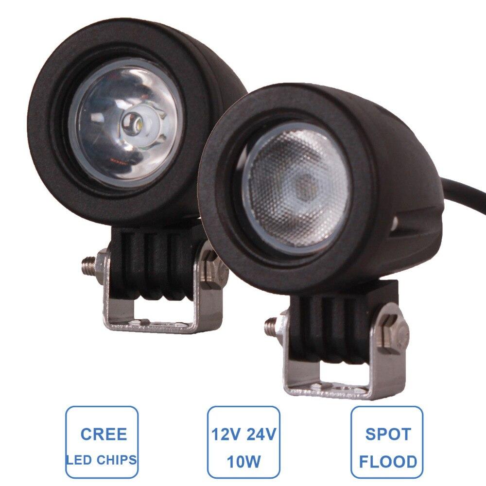 2pcs 10W LED Work font b Light b font 12V 24V Car Auto SUV ATV 4WD
