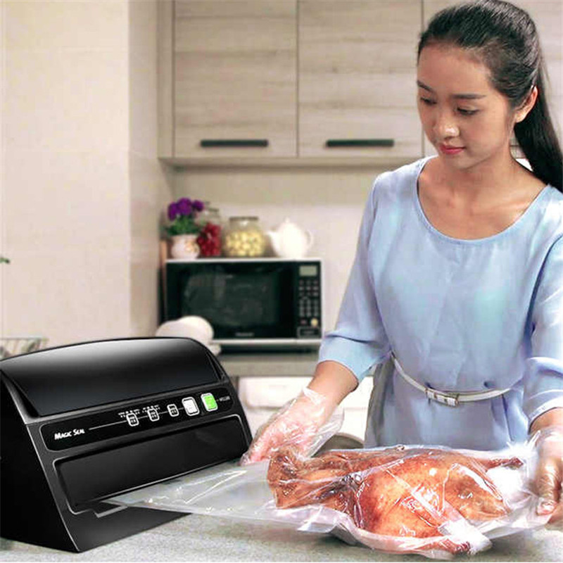NEW Vacuum Sealer 220V/110V Commercial /Home Food Vacuum Sealing Machine For wet dry Oil Food Packing Machine