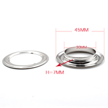 ( 20 pieces/lot) 30mm-40mm Inner diameter Metal hole Clothing & Accessories. corn. Eyelets. Rings. rivet snaps Eyelet installa