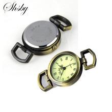 Shsby Diy Индивидуальные древние бронзовые часы Заголовок римские цифры круг часы стол основной ремешок для часов аксессуары для часов