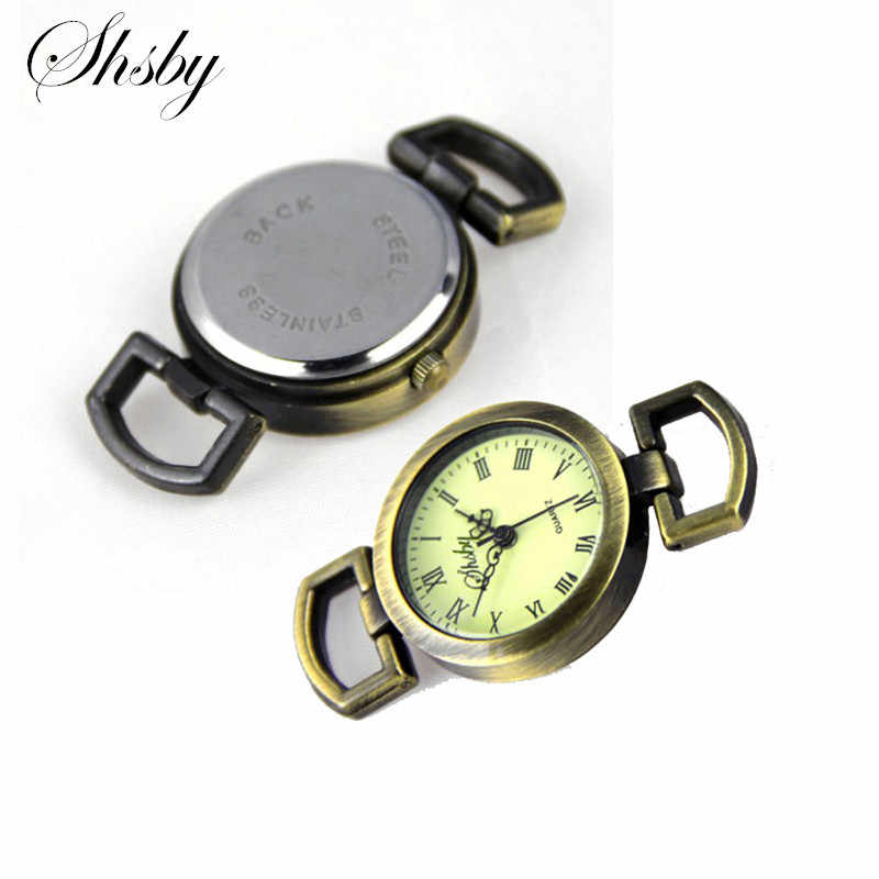 Shsby Diy personality ancient bronze Watch header Roman numerals circle watch table core watchband Watch accessories wholesale