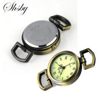 Shsby Diy personality ancient bronze Watch header Roman numerals circle watch table core watchband Watch accessories wholesale(China)