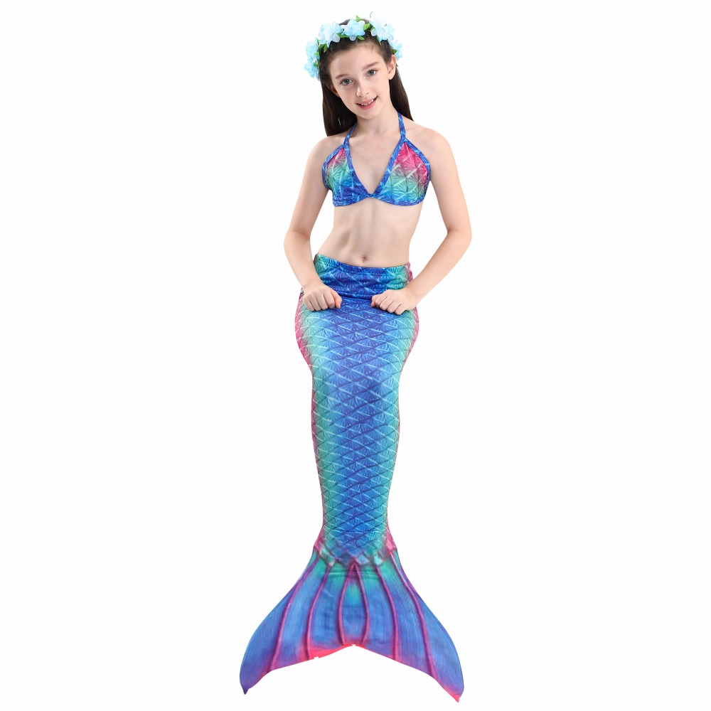 HTB1mOU Kf9TBuNjy0Fcq6zeiFXaM - 4PCS/Set HOT Kids Girls Mermaid Tails with Fin Swimsuit Bikini Bathing Suit Dress for Girls With Flipper Monofin For Swim