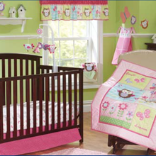 Promotion! 7pcs Embroidery Baby Cot Bedding Set Crib Bumpers Newborn Ba