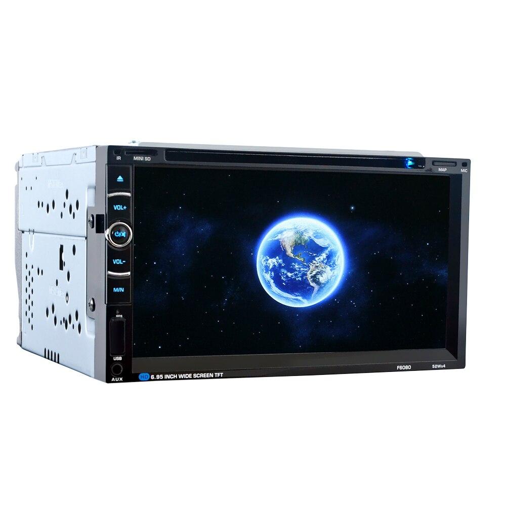 Image 3 - HEVXM/F6080 6,95 дюймовый автомобильный DVD плеер навигации автомобилей радио мультимедиа MP5 MP3 играть gps автомобильный навигатор-in GPS для транспорта from Автомобили и мотоциклы
