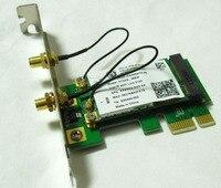 50PCS---Bradn NEW 2in1 512AN 5100 802.11n 300Mbps wireless wifi mini pci-e to pci-e wlan card for win vista 7 8