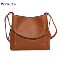 REPRCLA Brand Fashion Shoulder Bag Simple Design Women Messenger Bags PU Leather Ladies Handbags Crossbody Bags