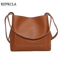 REPRCLA Brand Fashion Shoulder Bag Simple Design Women Messenger Bags PU Leather Ladies Handbags Crossbody Bags