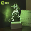 Luz de Noche Led Night Light Star Wars Lampara Imperial Stormtrooper 3D Touch Dimmer Lamp as Home Decor Bedroom USB Nightlight