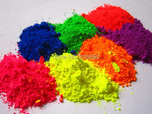 Fine Powdered Color BLueGreenRedPinkYellowOrange And Purple