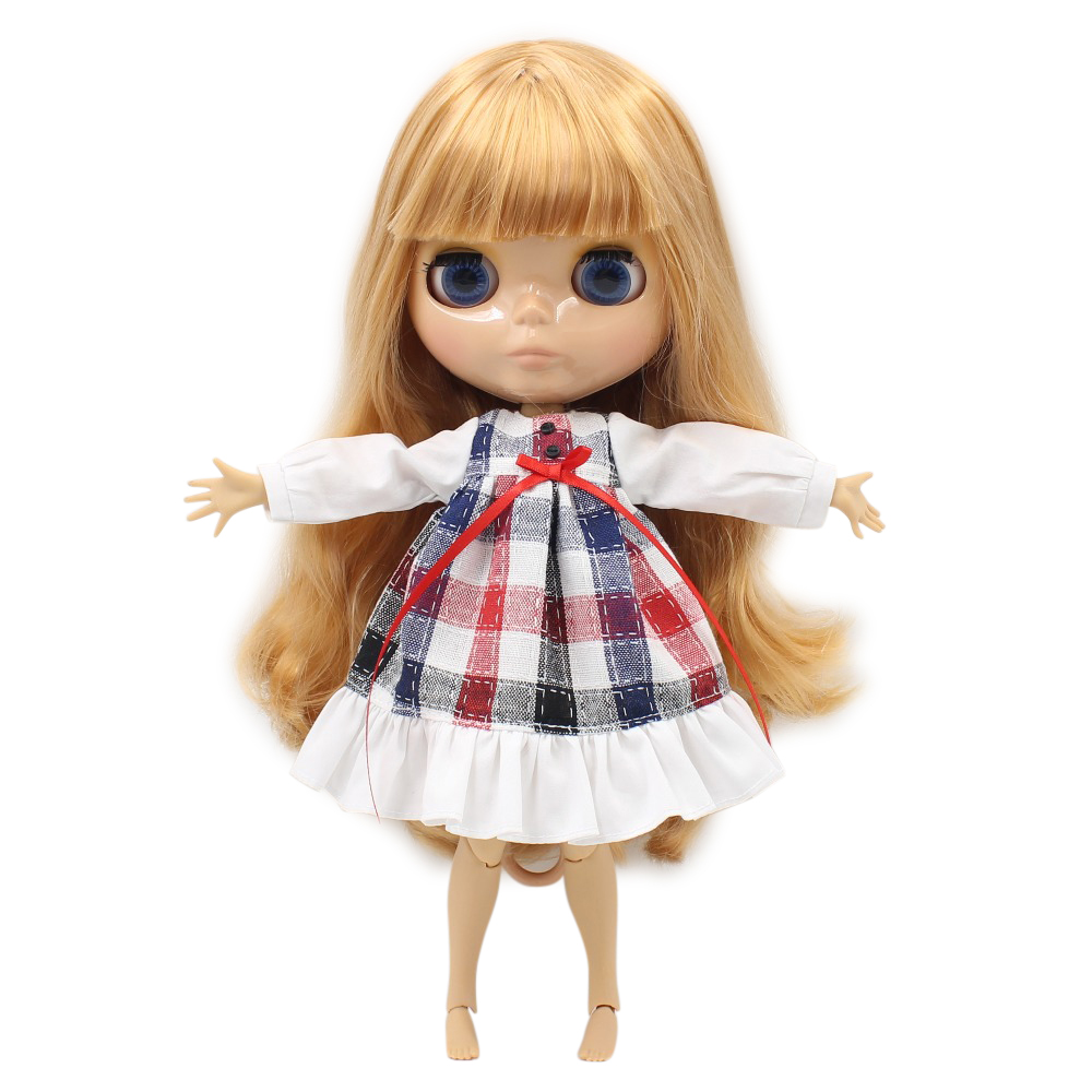 free shipping factory blyth doll bjd neo 1 6 tan skin joint body orange golden hair