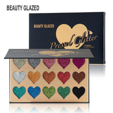 BEAUTY GLAZED 15 Color Pressed Glitters Eyeshadow Palette Professional Long Lasting Glitter Diamond Cosmetic
