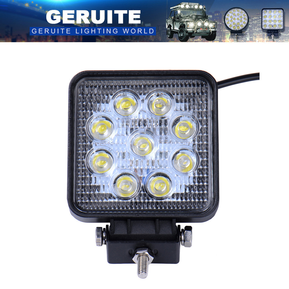 2/4/10pcs 27W 2700LM Car LED Work Light Spotlight Spot Light Light IP65 Combo Beam Truck Trailer For Boating Hunting Fishing SUV