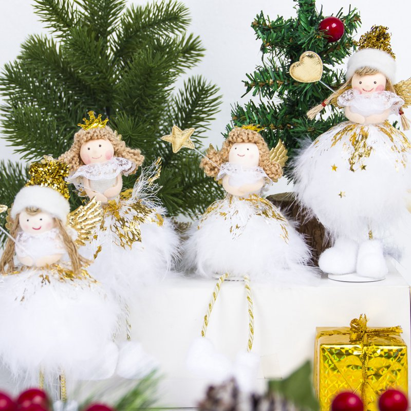 Gold Star Merry Christmas Tree Bedroom Desk Decoration Toy Doll Gift Children Christmas Decoration For Home Navidad New Year Home & Garden