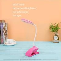 Mini Clipping Night Light Flexible Clip on Bright Booklight LED Travel Book Reading Lamp Portable Lighting