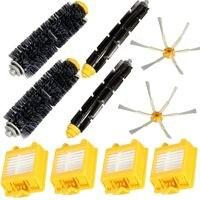 2018 4Pcs Hepa Filters And Flexible Beater Bristle Brush Kit 2 Side Brush For IRobot Roomba
