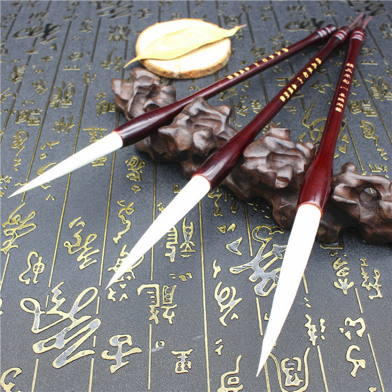 Excellent Quality Chinese Calligraphy Brushes Student Meticulous Painting Writing Brush Woolen Writing Brush Calligraphy Pen цена