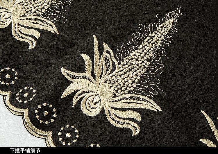 La Pincé Taille Dames Élégante Robe Parti Débutante Broderie Mode Plus Noir De Cultivées V Dress5xl cou Bal qUUn0tfg